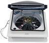 "Fan-Tastic Vent Roof Vent w/ 12V Fan - Clamp On - Manual Lift - 14-1/4"" x 14-1/4"" Vent Assembly FV801208"