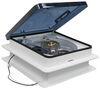 "Fan-Tastic Vent Roof Vent w/ 12V Fan - Clamp On - Manual Lift - 14-1/4"" x 14-1/4"" With 12V Fan FV801208"