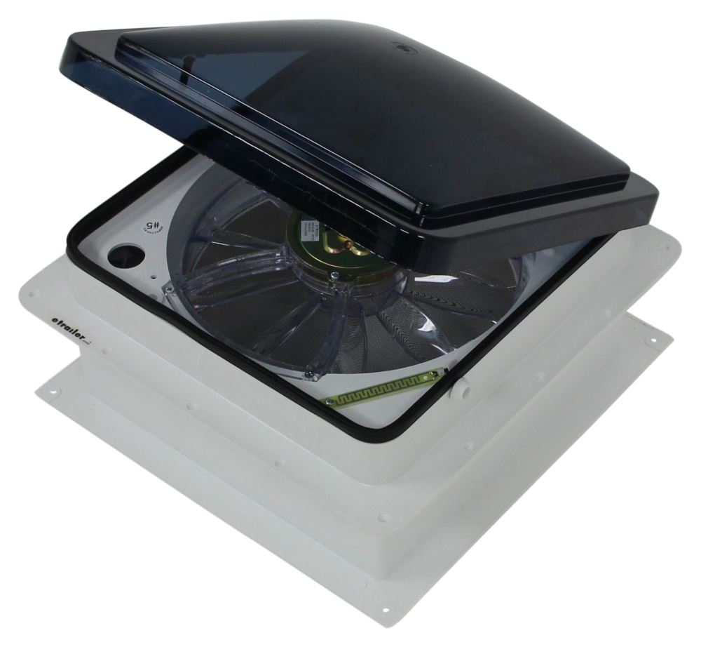fan tastic vent roof vent w 12v fan and thermostat powered lift Fantastic Vent Parts Diagram