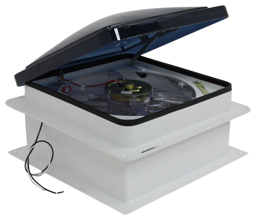 "Fan-Tastic Vent Roof Vent w/ 12V Fan and Thermostat - Powered Lift - 14-1/4"" x 14-1/4"" Powered Lift FV803350"