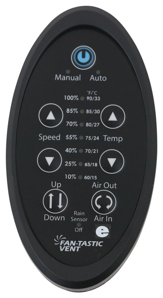 Replacement Digital Remote Control for Fan-Tastic Vent Roof Vent with 12V Fan Roof Vent FV9068-09