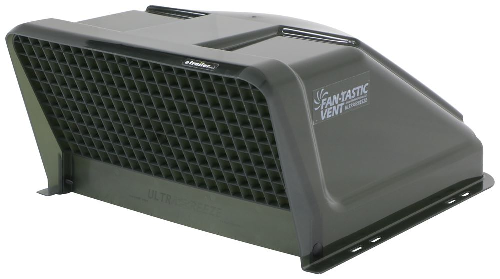 "Fan-Tastic Vent Ultra Breeze Trailer Roof Vent Cover - 23"" x 19.5"" x 10.25"" - Smoke Vent Cover FVU1500GR"