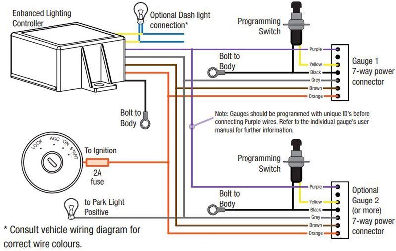 Enhanced Lighting Controller For Redarc Monitoring Gauges Redarc Accessories And Parts 331
