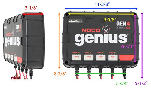 noco genius on board battery charger ac to dc 4 bank. Black Bedroom Furniture Sets. Home Design Ideas