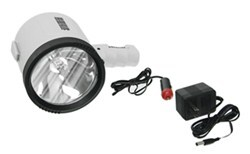 1-Million-CP Spotlight - Hand-Held, Cordless - Rechargeable w/ 6-Volt DC Charger - Wh