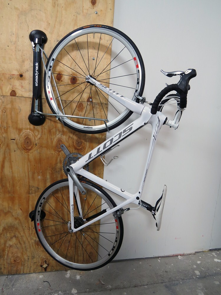 Steadyrack Vertical Bike Storage Rack Swiveling 1 Bike Steadyrack