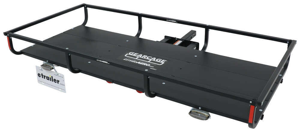 "32x72 Lets Go Aero GearCage FP6 Slide-Out Cargo Carrier for 2"" Hitches - Steel - 300 lbs Standard Duty H01397"