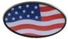 "American Flag 2"" Trailer Hitch Receiver Cover - ABS Plastic Standard HCC11469"