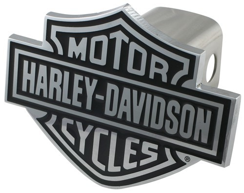Harley-Davidson Motorcycles Black Logo Trailer Hitch Cover for 2 Inch Trailer Hitches