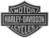 Front View of Harley-Davidson Motorcycles Black Logo Trailer Hitch Cover for 2 Inch Trailer Hitches