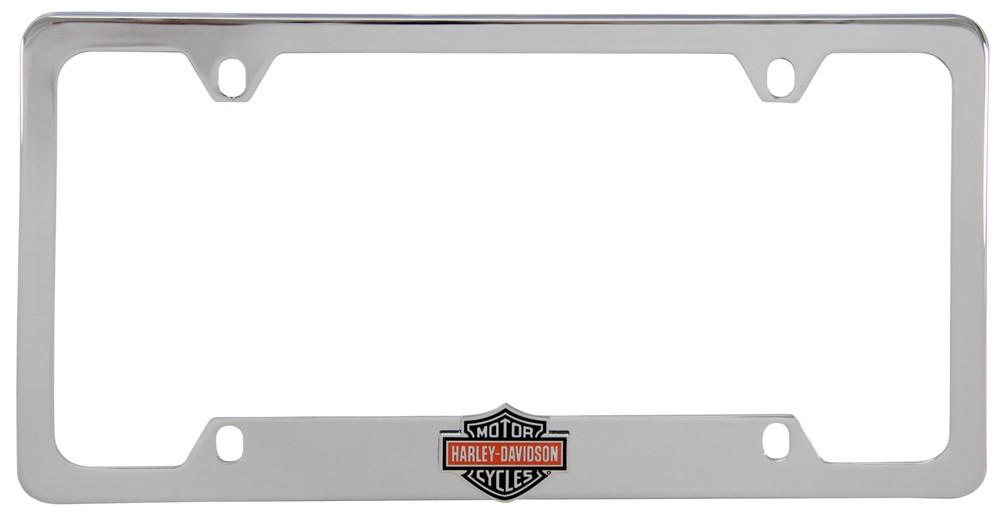 Harley Davidson License Plate Frame 3 D Black Orange Bar