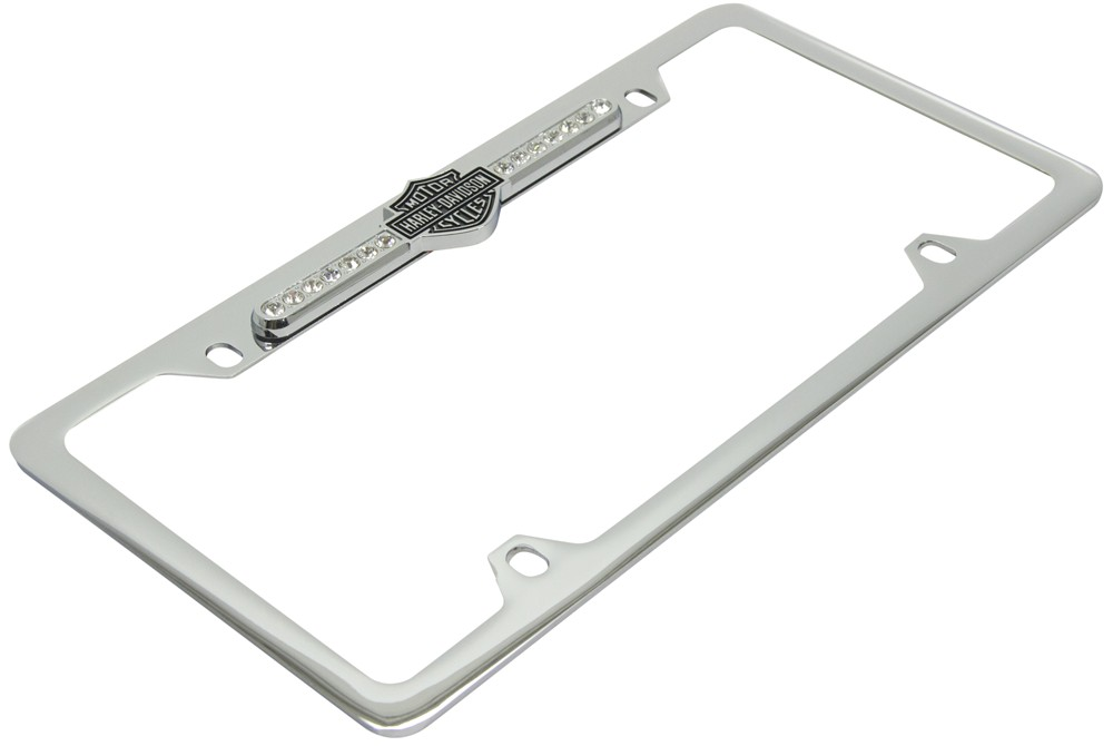 Black Harley Davidson License Plate Frame