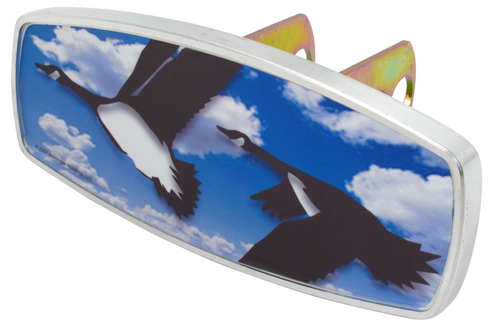 "HitchMate Flying Geese Trailer Hitch Receiver Cover - 1-1/4"" or 2"" Hitch - Aluminum Rectangle HE4207"