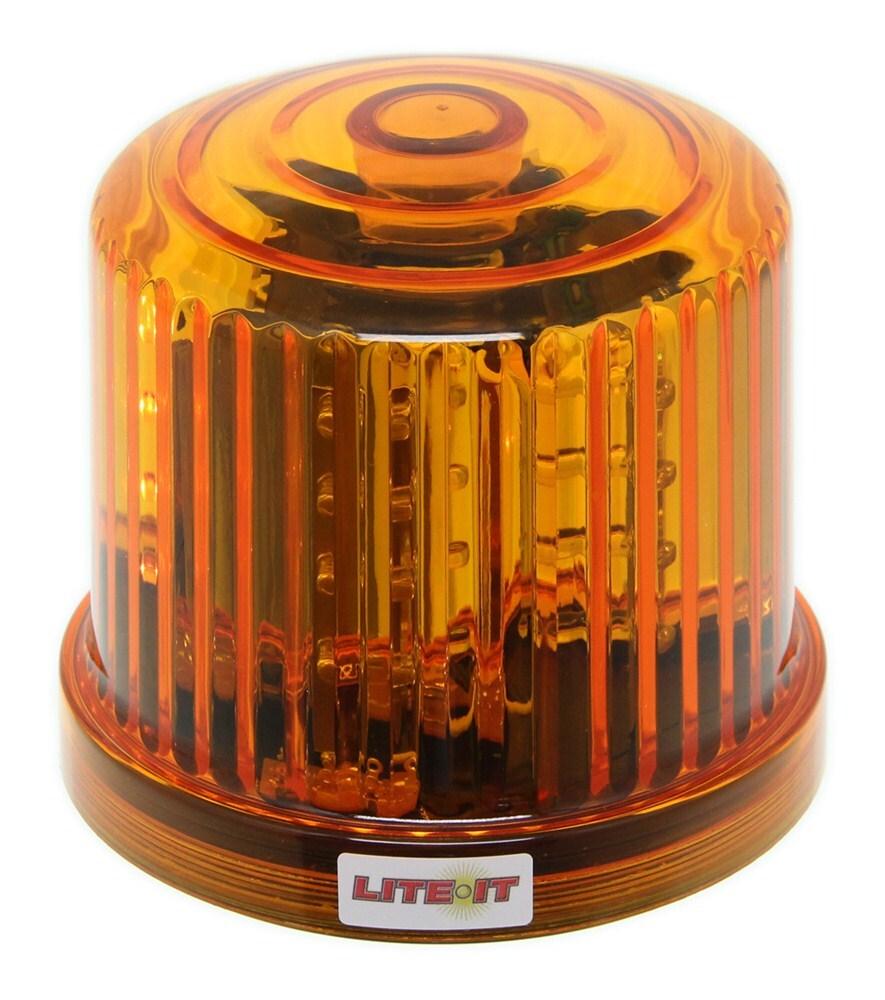 Custer Rotating Amber Warning Light Sae Class Iii Led Cordless Trailer Kit W 2539 Wiring Harness Optronics Lights Magnet Mount Emergency Supplies Hf20rl