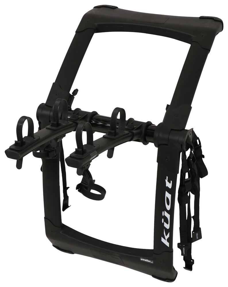 Kuat Highline 2 Bike Rack - Trunk Mount - Adjustable Arms - Black 2 Bikes HIT2B