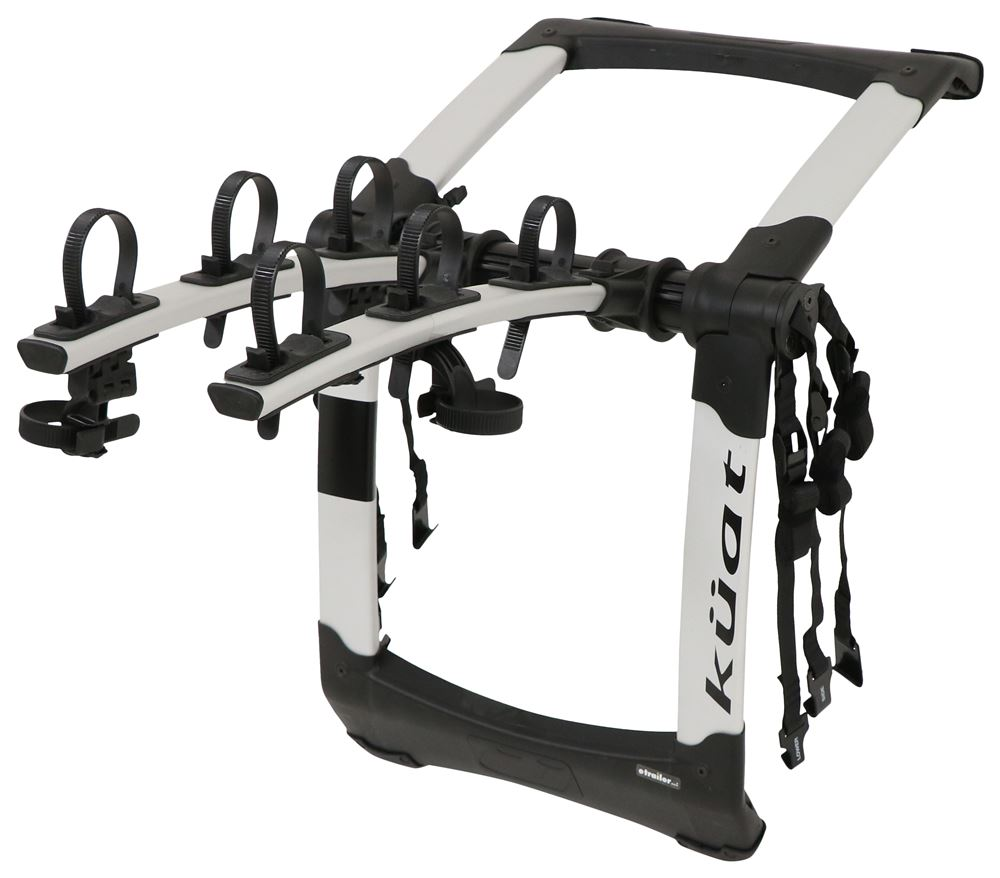 Kuat Highline 3 Bike Rack - Trunk Mount - Adjustable Arms - Silver 4 Straps HIT3S