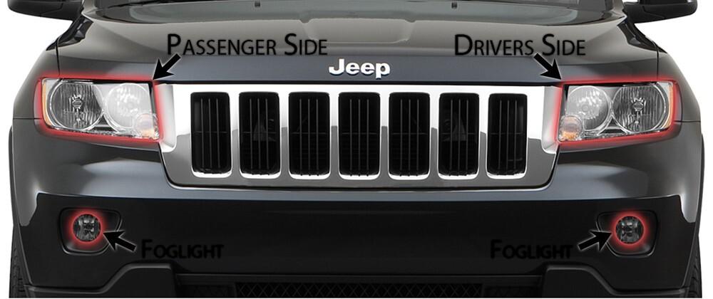 2013 jeep grand cherokee headlight lens protectors husky liners. Black Bedroom Furniture Sets. Home Design Ideas
