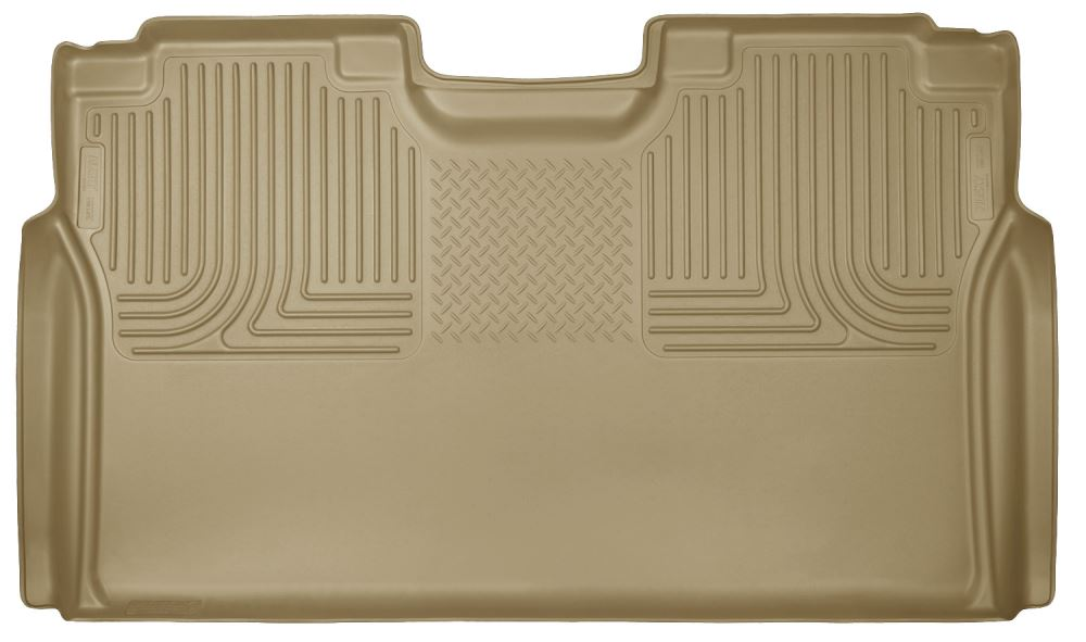 Husky Liners WeatherBeater Custom Auto Floor Liner - 2nd Row Rear - Tan Second Row HL19373