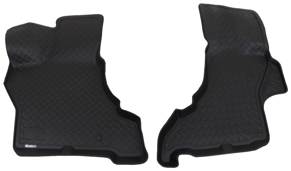 Husky Liners Classic Custom Auto Floor Liners - Front - Black Thermoplastic HL33251