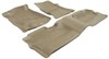 Husky Liners WeatherBeater Custom Auto Floor Liners - Front and Rear - Tan Contoured HL98233