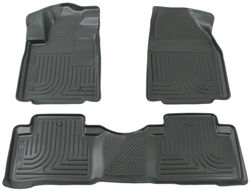 2012 honda pilot Husky Liners WeatherBeater Custom Auto Floor Liners - Front and Rear - Black