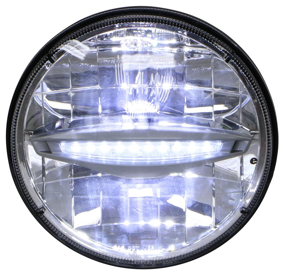 Opti Brite Headlight Conversion Kit Sealed Beam To Led 7 Round Way Connector Wiring Products Aluminum High Low Optronics Vehicle Lights Hll93hlb 2