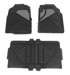Hopkins Semi-Custom Auto Floor Mats - PVC - Front/Rear - Black