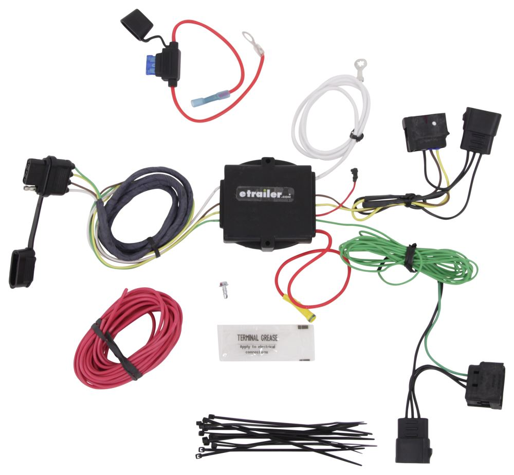 Hopkins Plug In Simple Vehicle Wiring Harness With 4 Pole Flat Tow Readyr 20251 4flat Kit Car End Connector Tail Trailer Custom Fit Hm11140495