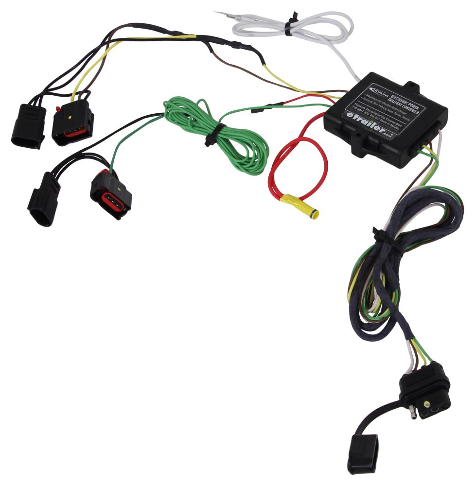 Compare Curt T Connector Vs Hopkins Plug In Etrailercom Trailer Harness Simple Vehicle Wiring With 4 Pole Flat Powered