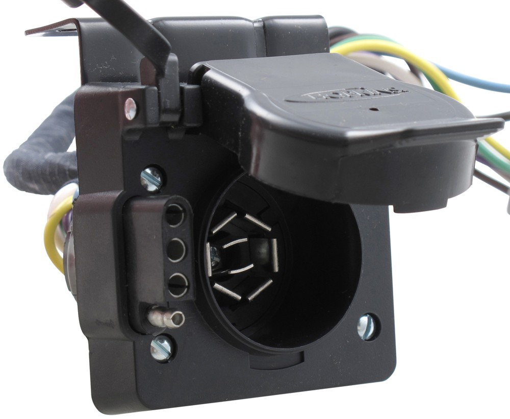 Compare Hopkins Plug In Vs Replacement Multi Trailer Connector Sockets W Mounting Bracket And Wiring Vehicle End Simple Harness For Factory Tow Package 7 Way