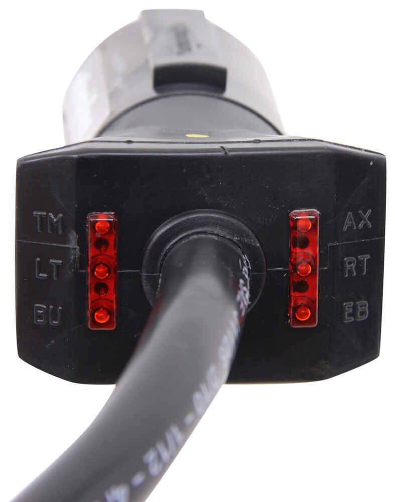 Light Plug 7 Way Rv Wiring Harness 639 Cord Trailer End 7ways Wire