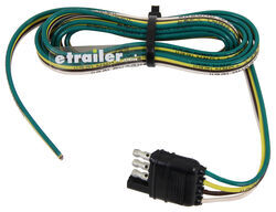 Hopkins Wiring Harness with 4-Pole Flat Trailer Connector - Trailer End - 6' Long