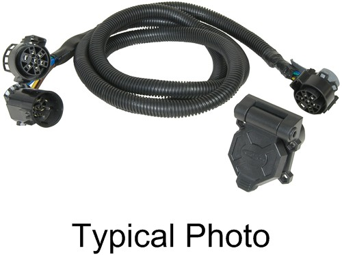 hopkins custom fit vehicle wiring 7 blade endurance 5th wheel/gooseneck 90-degree harness with 7-pole plug