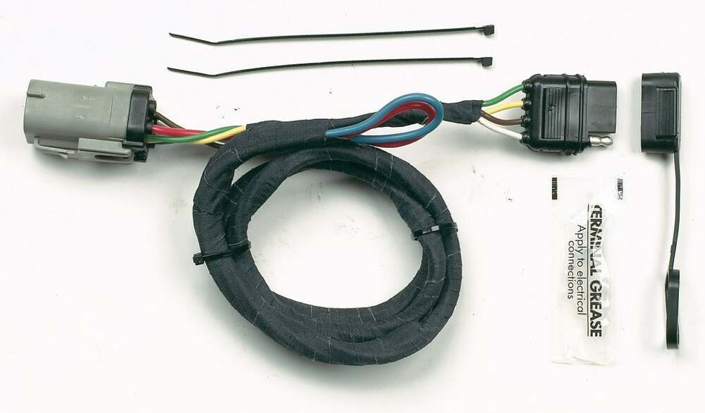 Hopkins Plug-In Simple Wiring Harness for Factory Tow Package - 4-Pole Flat Trailer Connector No Converter HM40155