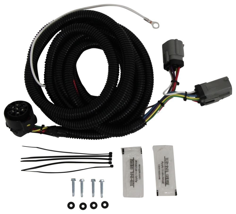 Hopkins Endurance 5th Wheel/Gooseneck 90-Degree Wiring Harness with 7-Pole  Plug Hopkins Custom Fit Vehicle Wiring HM40157