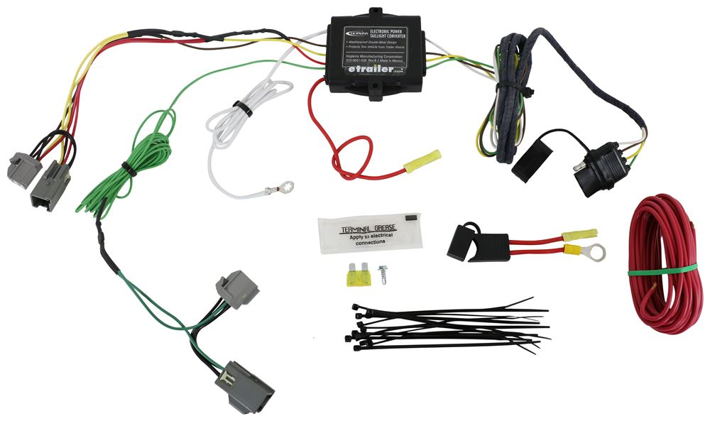 hopkins plug in simple vehicle wiring harness with 4 pole flat Ford F700 Wiring Harness Kits hopkins plug in simple vehicle wiring harness with 4 pole flat trailer connector hopkins custom fit vehicle wiring hm40285