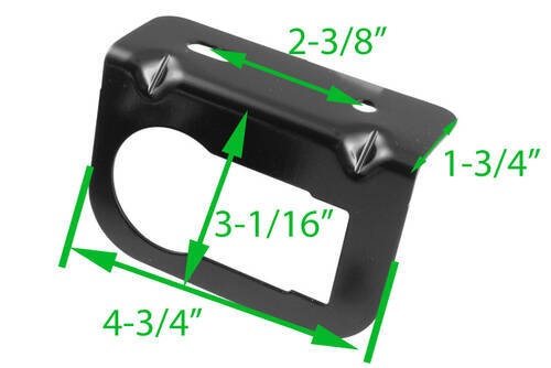 Dimensions of bracket