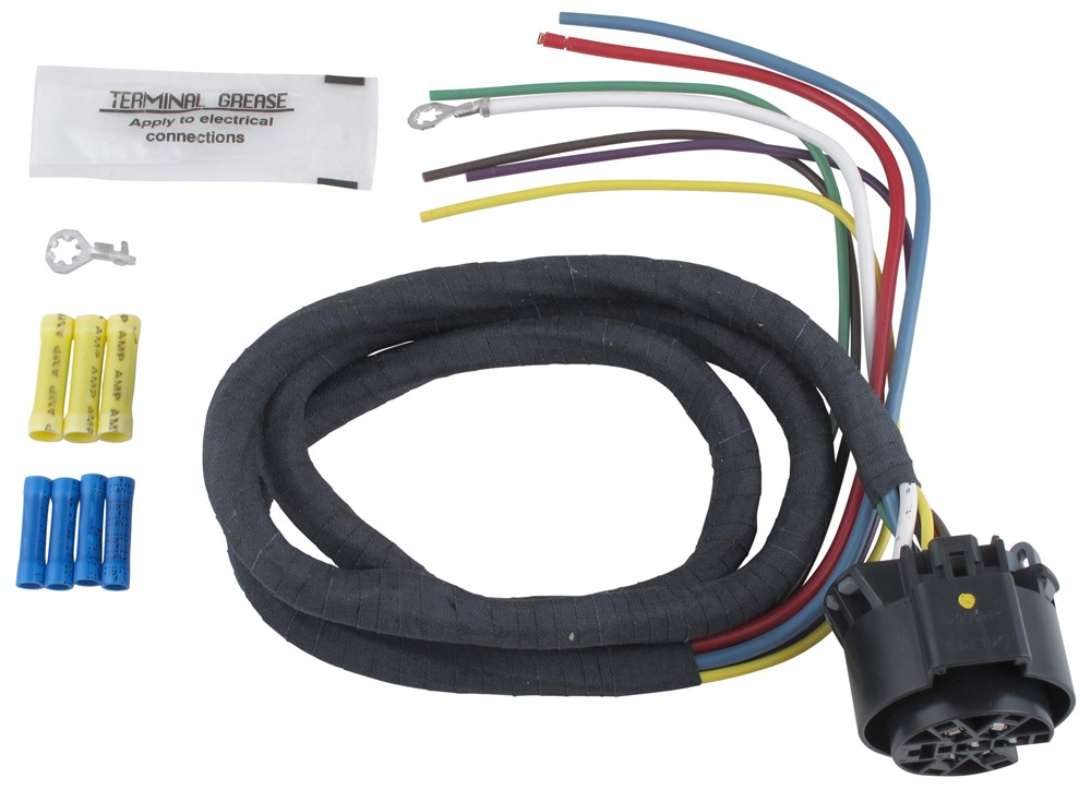Universal Wiring Harness For Hopkins Multi-tow Vehicle-end Trailer Connectors