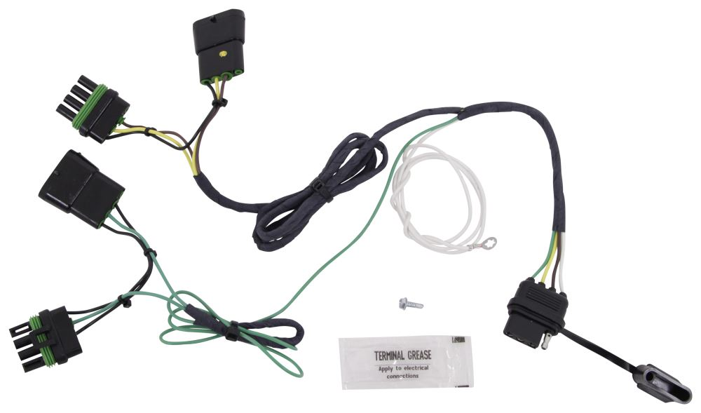 hopkins plug in simple vehicle wiring harness with 4 pole flat rh etrailer com