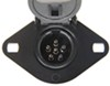 hopkins accessories and parts tow bar wiring 6 round to nite-glow extension cord w/ sockets - coiled 6-way 8' long