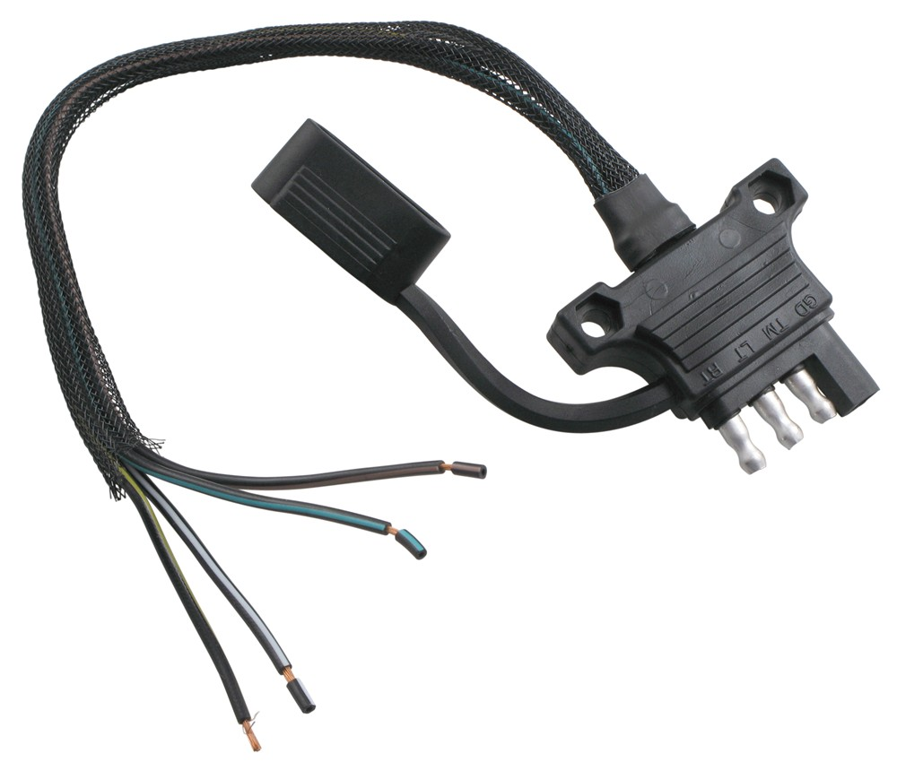 Hopkins Endurance 4-Way Flat Trailer Connector - Trailer End ... on 3 phase plug wiring, 4 way diagram, 4-wire plug wiring, electric plug wiring,
