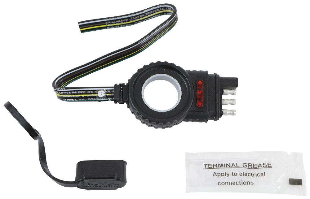 endurance easy pull harness with 4 pole flat connector led tester trailer end 12