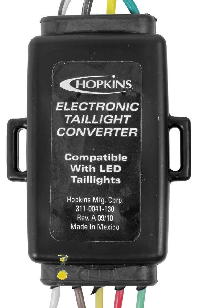 hopkins tail light converter kit with 4-way flat connector - led compatible hopkins  wiring hm48895