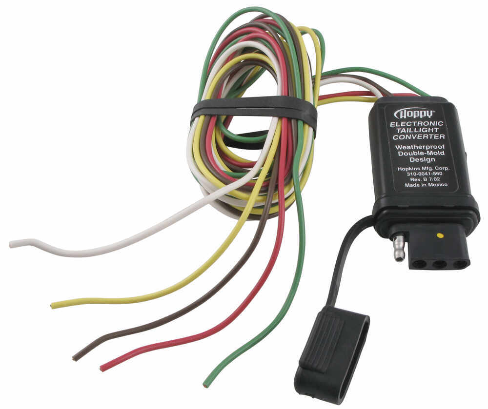 Hopkins Vehicle Wiring Converter With 4 Pole End Hm48915 Honda Goldwing Trailer