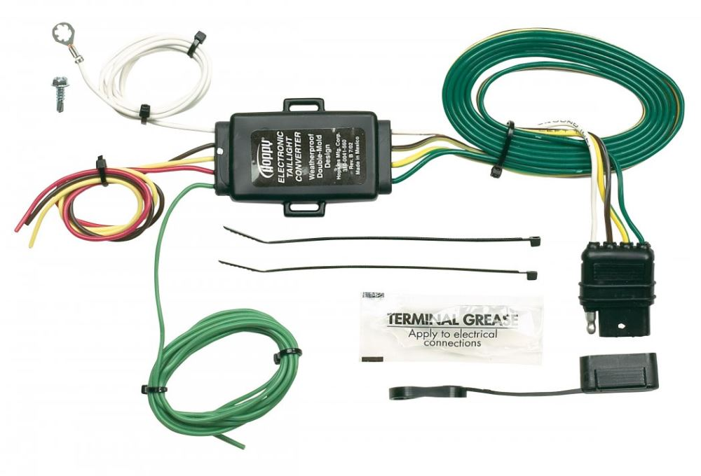 hopkins tail light converter kit with 4-pole flat trailer ... hopkins tail light converter wiring diagram