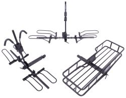 "Hollywood Racks Sport Rider SE Platform 4 Bike Rack w/ Cargo Carrier - 2 Fat Bikes - 2"" Hitches - HR1400-85-FB"