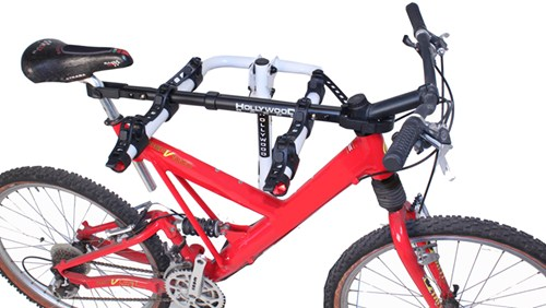 Bike hanging from adapter bar