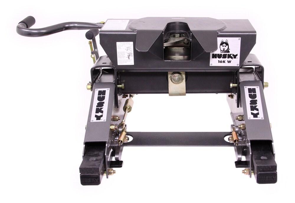 Husky Silver Series 16K W 5th Wheel Trailer Hitch w/ 10 Composite Slider - Single Jaw - 16,000 lbs Premium - Single-Hook Jaw HT31326-32042