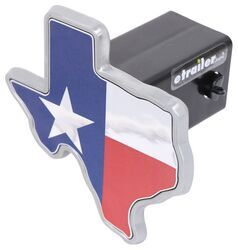 on chrome METAL Hitch Cover AMG with Texas flag colors Texas A/&M METAL State Shaped emblem