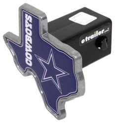 "Dallas Cowboys 2"" NFL Trailer Hitch Receiver Cover - Texas Shape - Zinc"